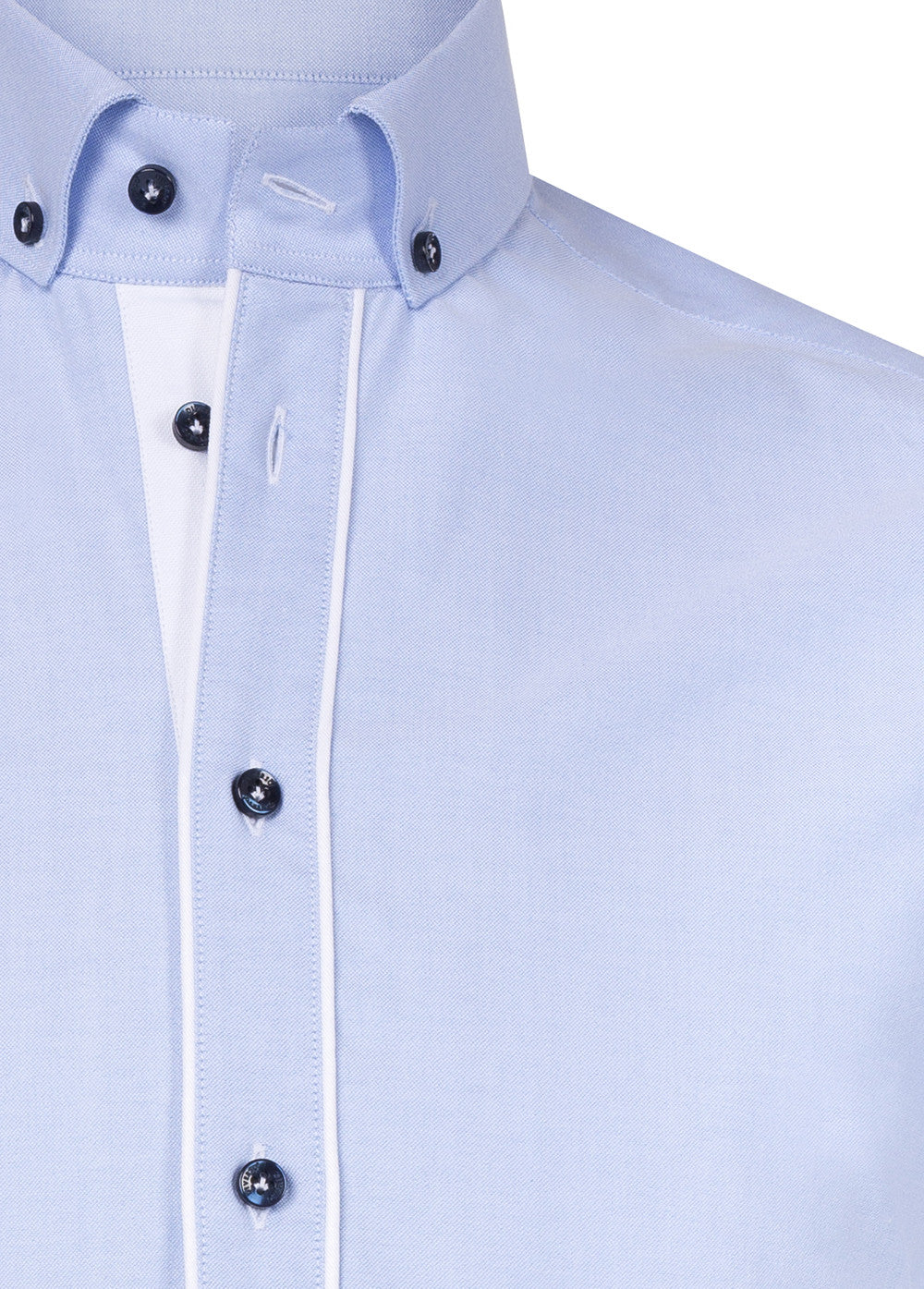 Sky Button Down Double Sleeve Shirt