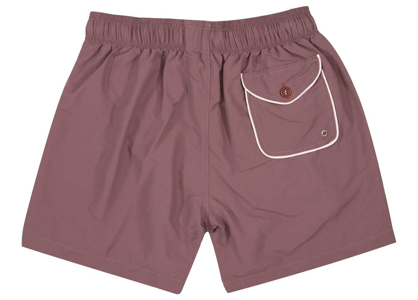 Maroon Piping Swim Shorts