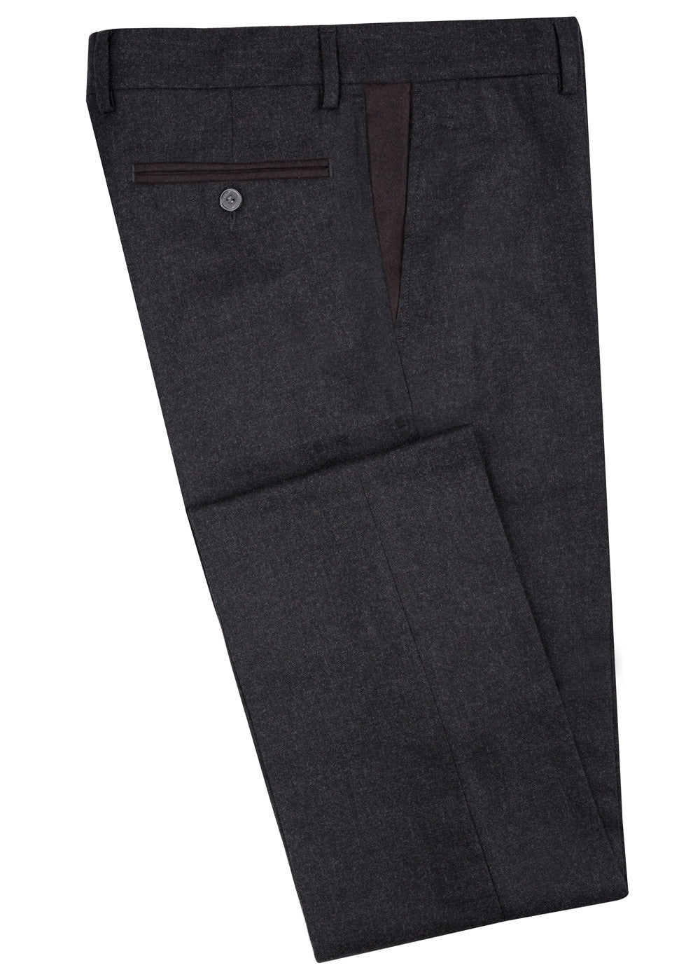 Charcoal Wool Contrast Pant
