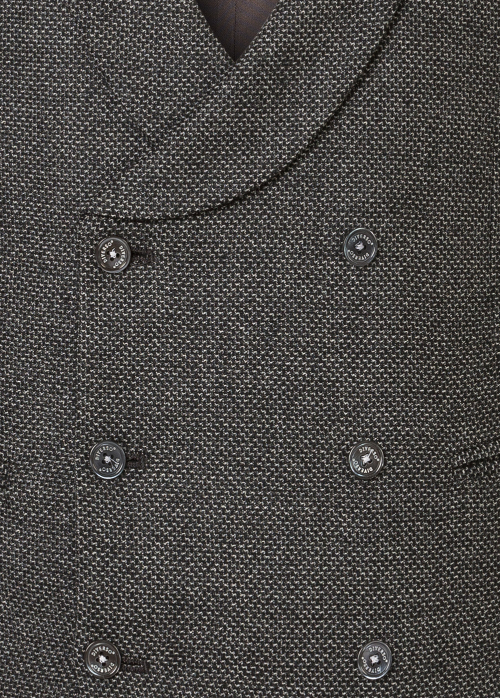 Grey Rustic Wool Double Breasted Waistcoat