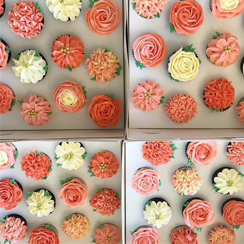 Buttercream flowers cupcake class - Tuesday August 15th - 6:30 - 8:30pm