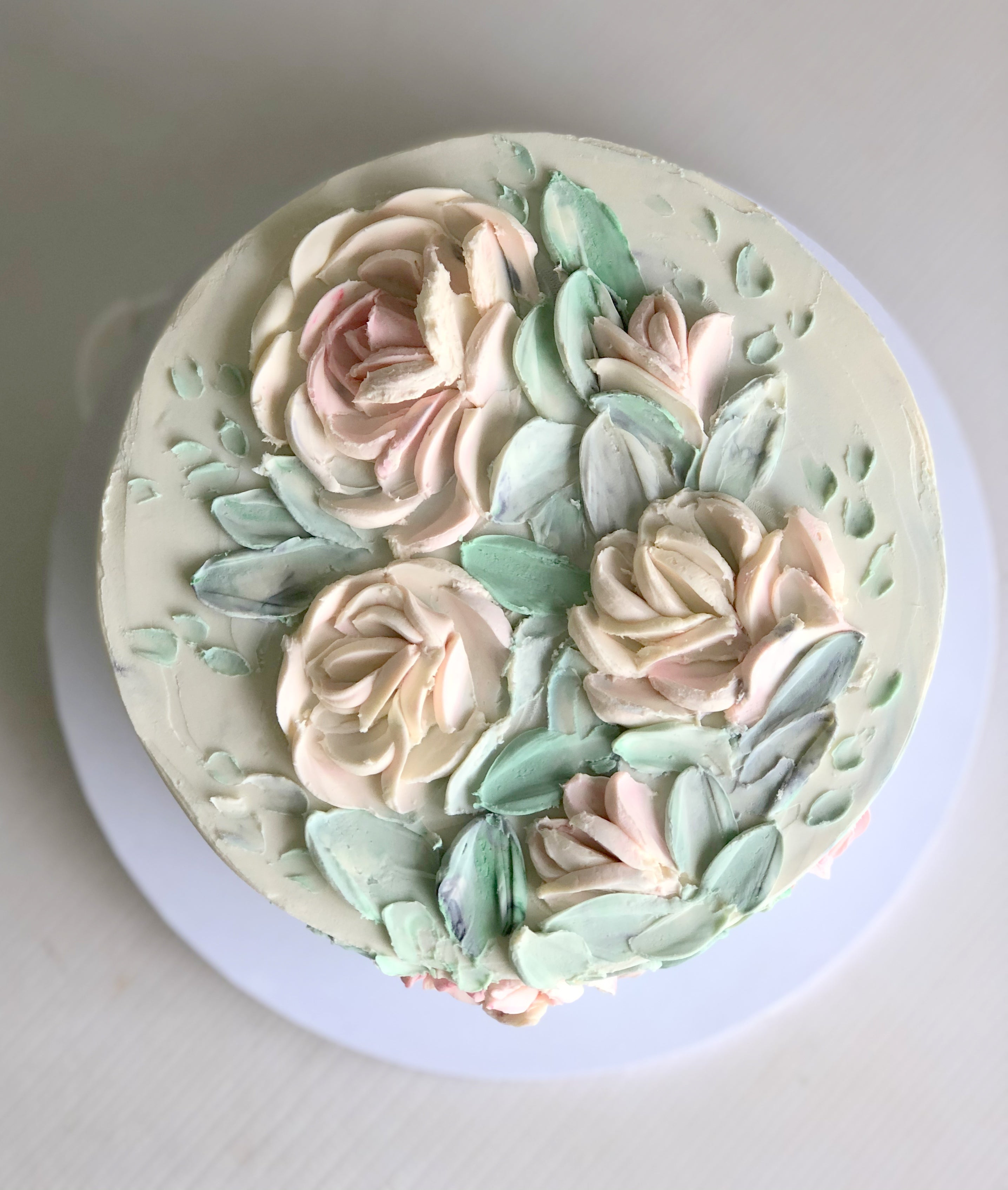 "Mothers day - 6"" round ganache flowers cake (serves 5-12)"