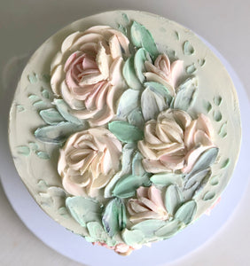 "Mothers day - 5"" round ganache flowers cake (serves 4-9)"