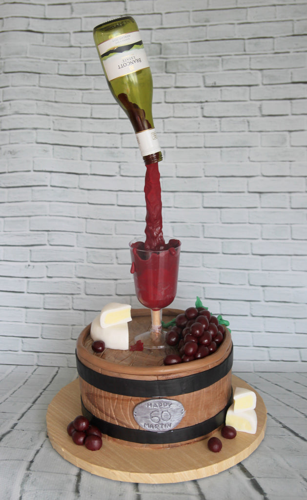 Gravity Defying Wine Cake