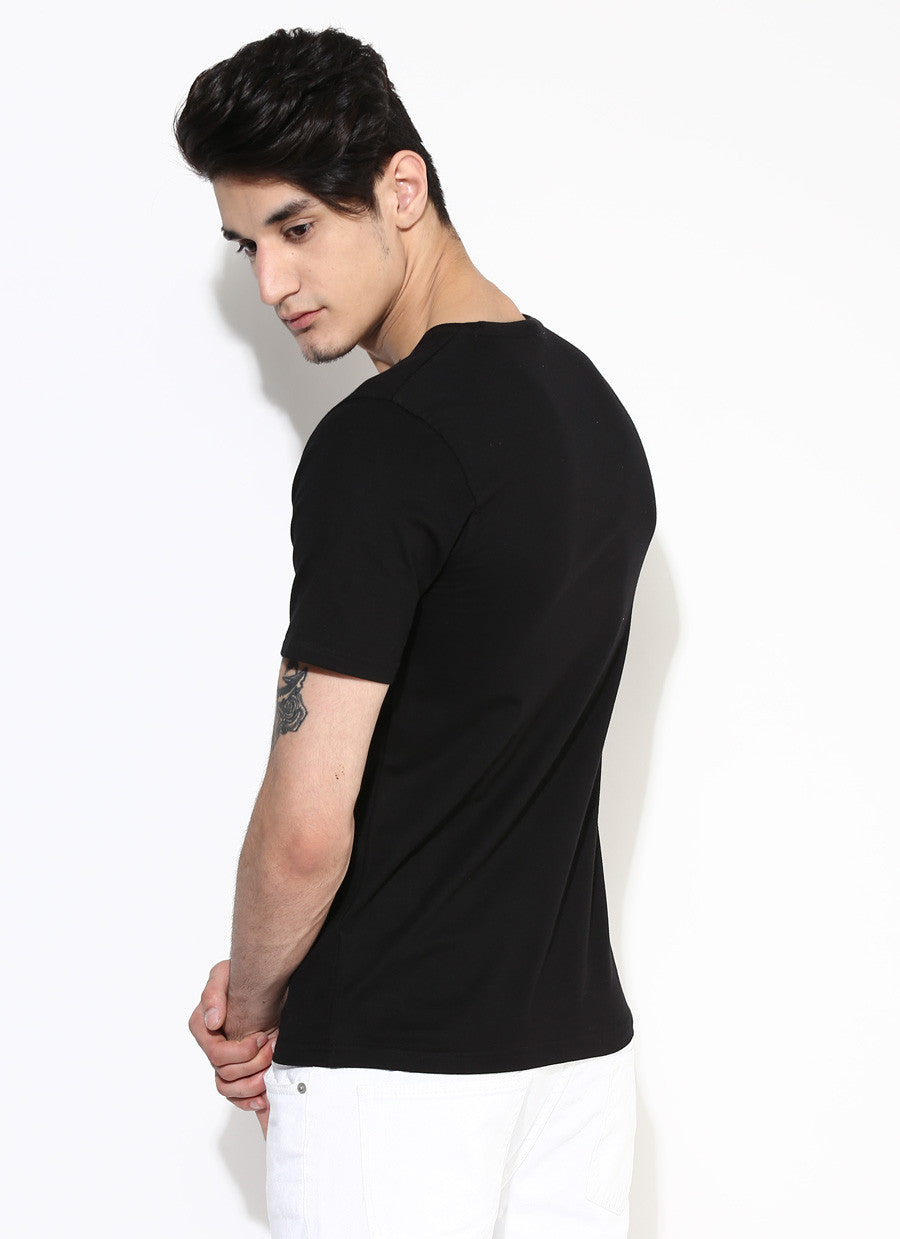 Black t shirt for mens -  Men S Organic Cotton Jersey With Chest Print