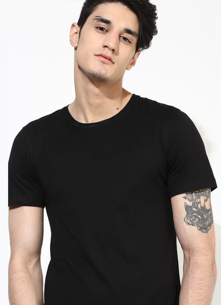 Black t shirt for mens -  Men S Organic Cotton Jersey With Number Print