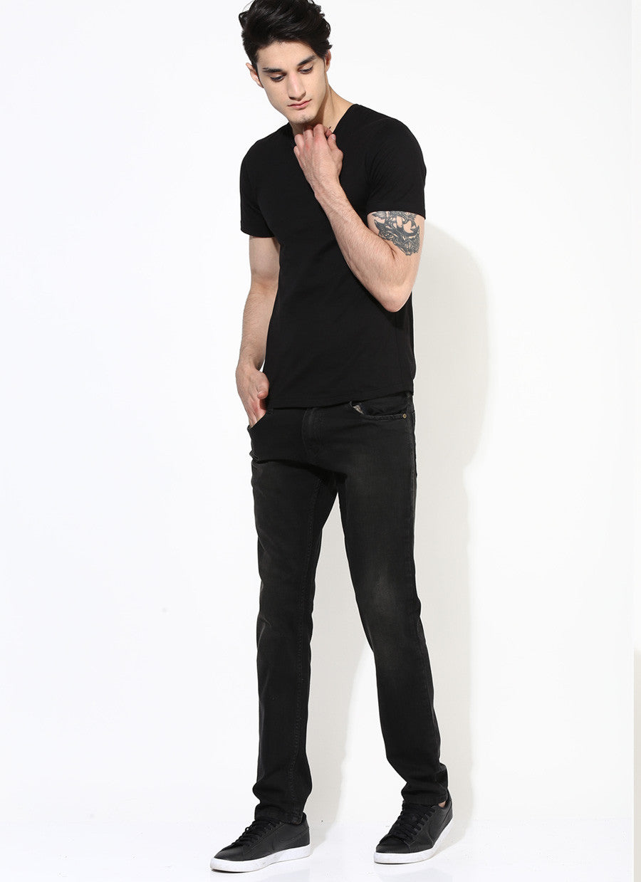 Black t shirt for man - Men S Organic Cotton Jersey With Number Print