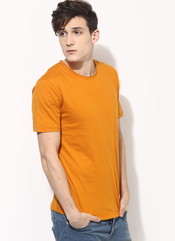 Men S Organic Cotton Plain T Shirt In Gold Sustainable