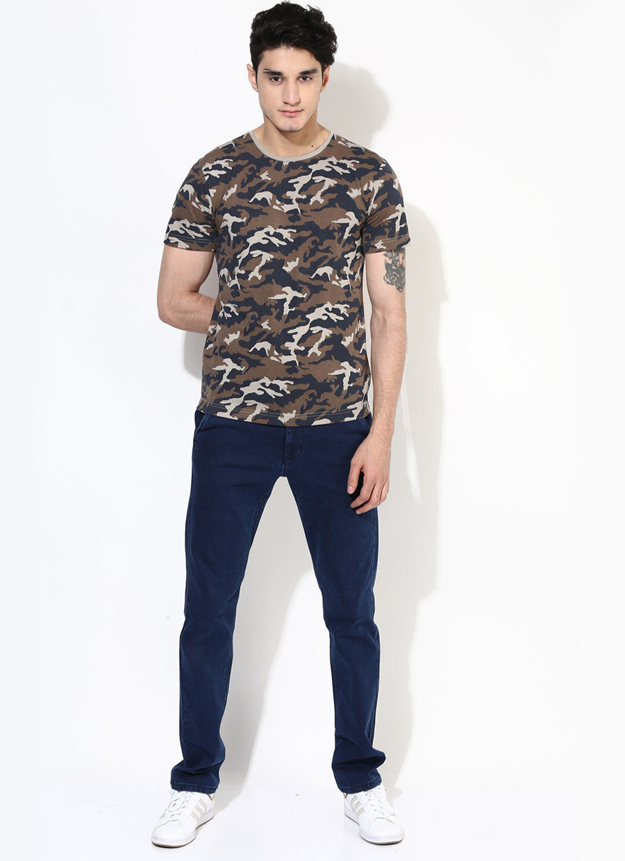 ... Men s Organic Cotton Military Print Number T-Shirt - Brown Boy India -  Men s Organic ... 499b5ba9c6b
