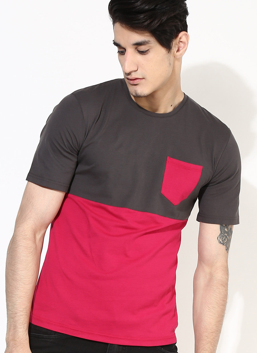 c6862d04d ... Men s Organic Cotton Pink Pocket T-Shirt - Brown Boy India - Men s  Organic Cotton ...