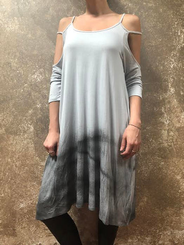 Tough Luv Dyed Cold Shoulder Dress