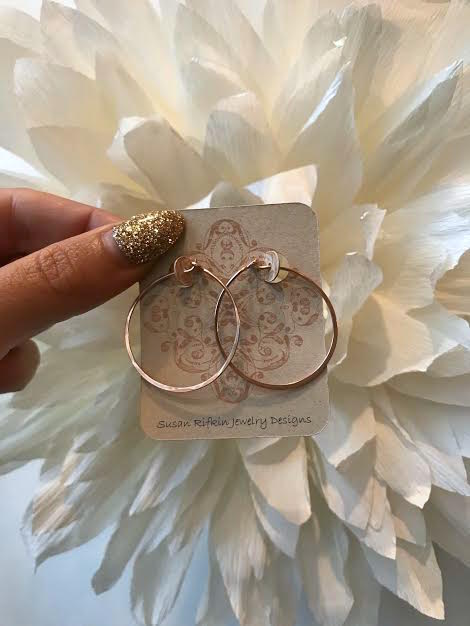 Susan Rifkin Small Rose Gold Hoops