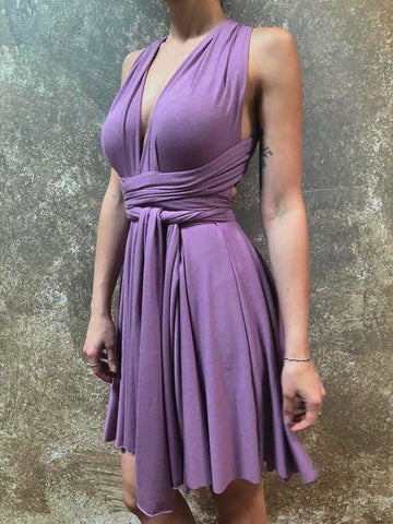 Orgotton Short Infinity Dress -  Lavender