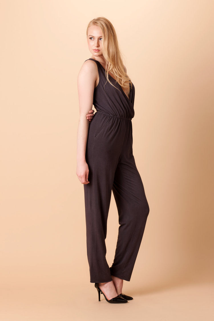 Orgotton Jumpsuit Open Back