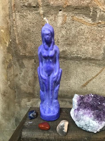 Witch's Way Goddess Candle Purple