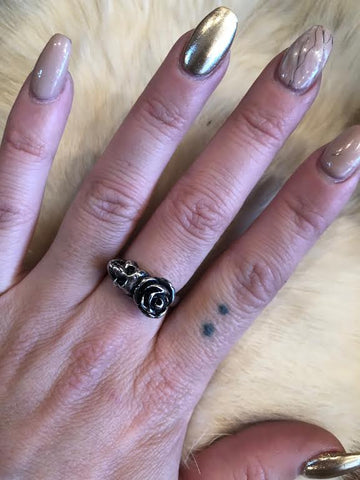 Hellhound Jewelry Rose Queen Silver Ring