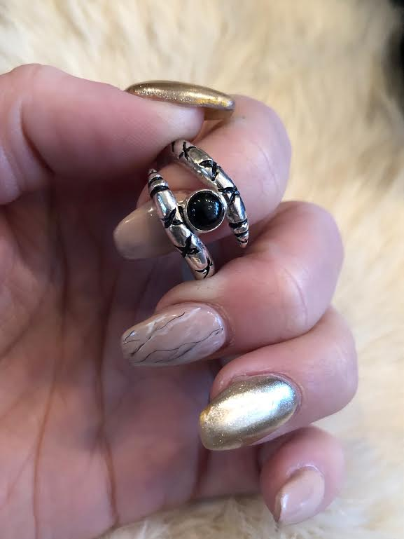 Hellhound Jewelry The Guardian Ring in Onyx