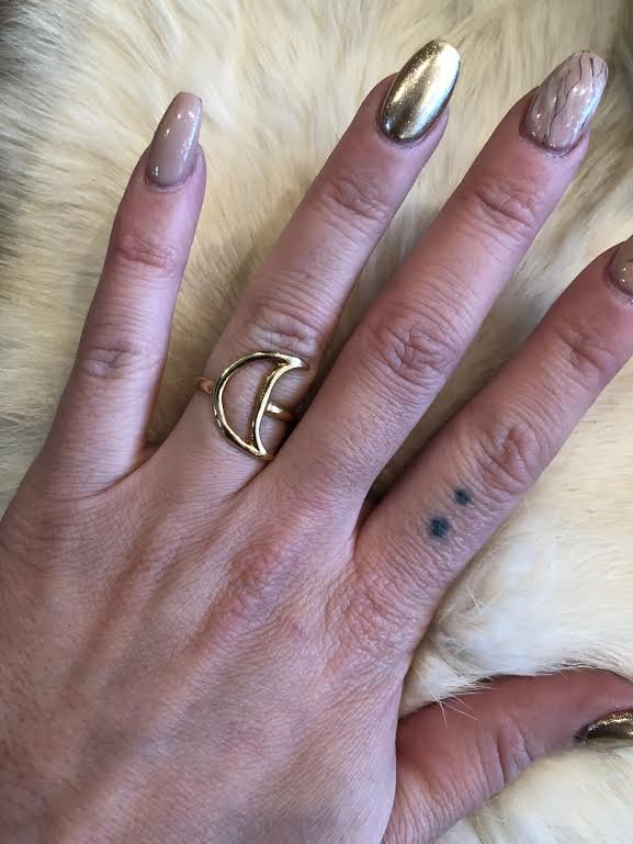 Hellhound Jewelry Luna Ring in Gold