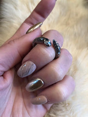 Hellhound Jewelry Serpent Queen Ring in Silver