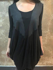 Bianca Rachele Pieced Side Cowl Dress