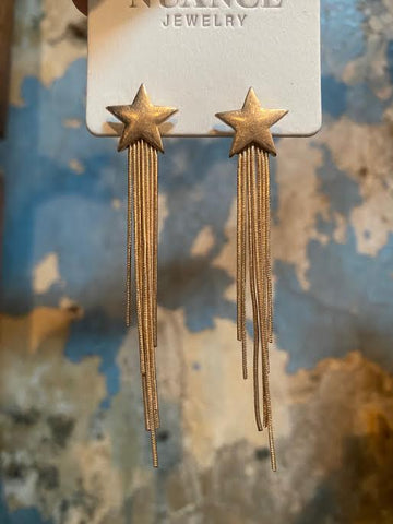 Nuance Star Fringe Earrings