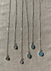 Susan Rifkin Silver Round Druzy Necklace (Multiple Colors!)