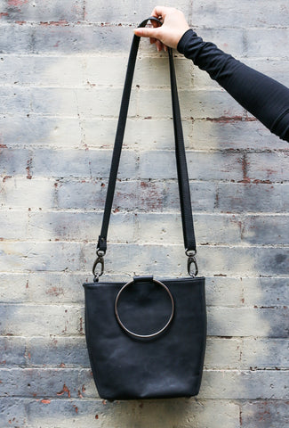 Bianca Rachele O-Ring Leather Bag