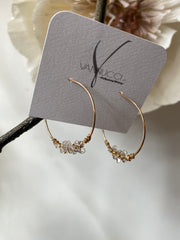 Vannucci Herkimer Hoop Earrings