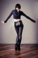 Sophi Reaptress Mesh and Wet Look Leggings