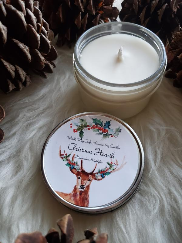 Witch's Way Craft Christmas Hearth Candle
