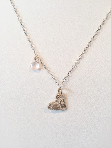 Vannucci Hammered Heart Necklace