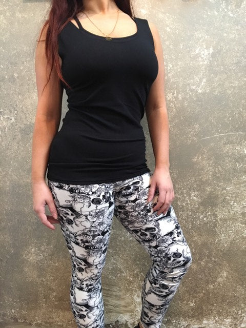 Tough Luv B/W Skull Leggings