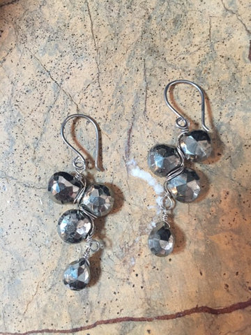 Vannucci Pyrite Woven Earrings