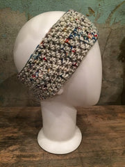 April Hand Crochet Multi Color Light Ear Warmer