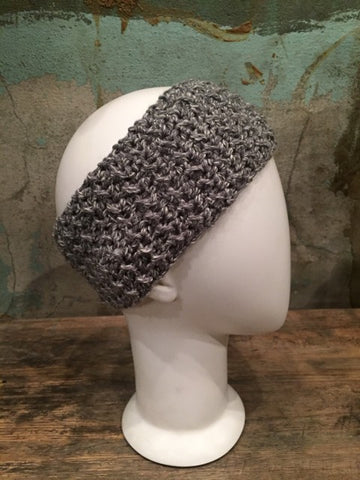April Hand Crochet Light Grey Ear Warmer