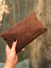 Studio KED Envelope Clutch Matte Brown