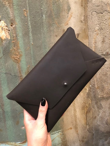 Studio KED Envelope Clutch Matte Black