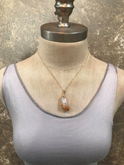 Toile Citrine Necklace