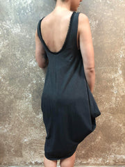 Bianca Rachele Dip Dyed Side Cowl Dress