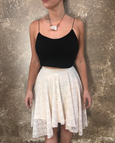 Bianca Rachele Cream Lace Skirt
