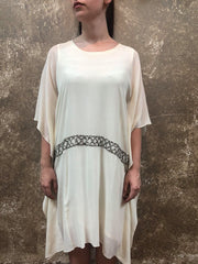 Naveda IVORY SILK KAFTAN Dress