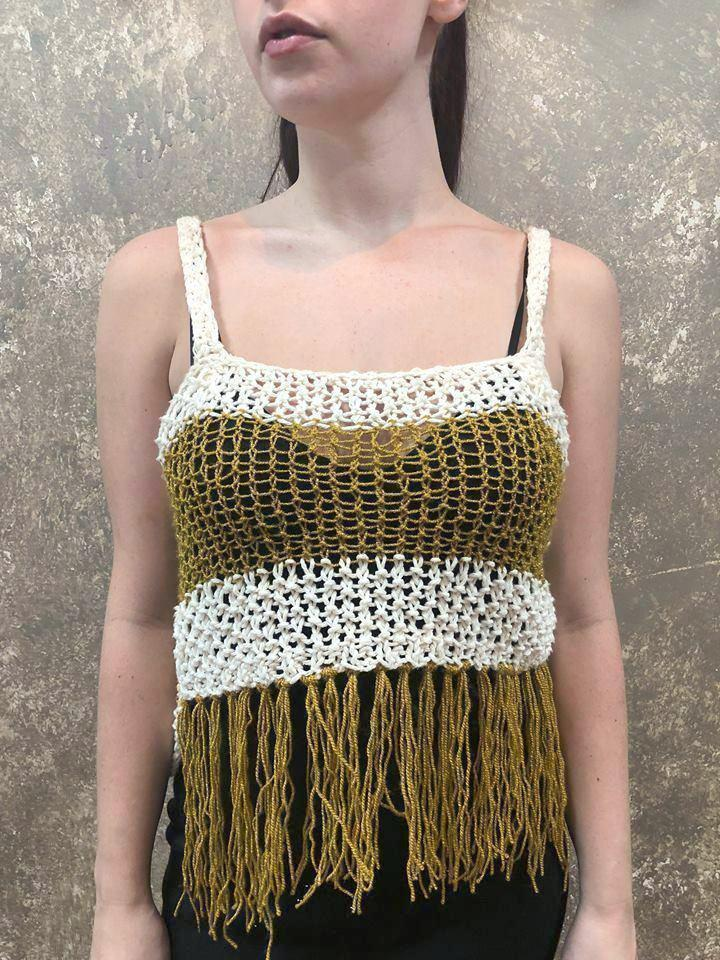Independent Flavor Knit Fringe Tank