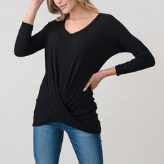 Natural Life Black Twist Top