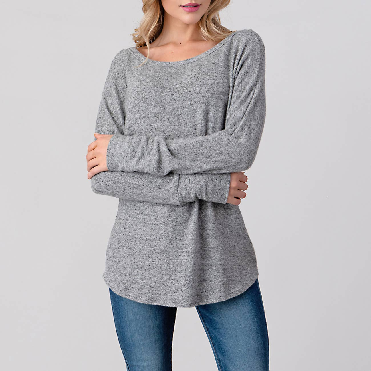 Natural Life Heather Grey Sweater Top