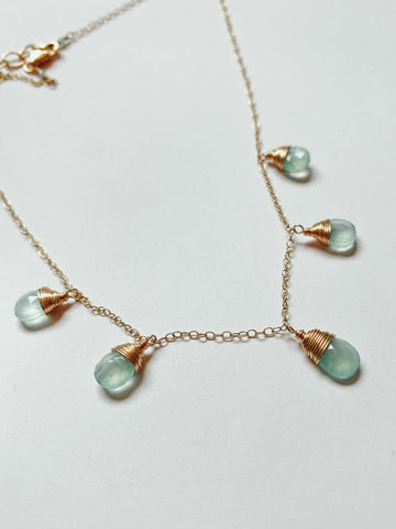 Susan Rifkin Blue Aventurine Droplets Necklace