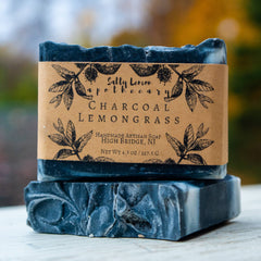 Salty Lemon Apothecary Charcoal Lemongrass Soap