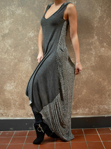ADHD High/Low Distressed Back Dress