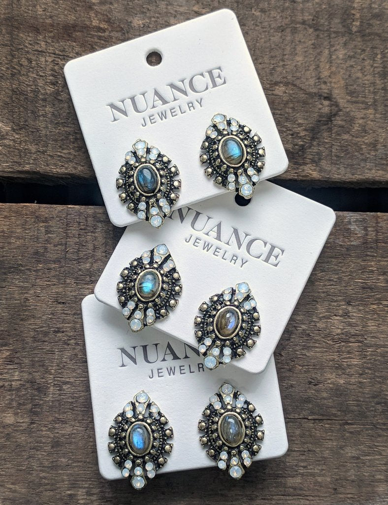 Nuance Antique Eyelet Earrings - TOILE