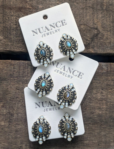 Nuance Antique Eyelet Earrings