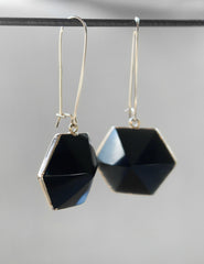 Nuance Hexagon Point Earrings